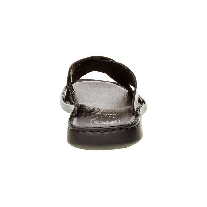 Pánske kožené nazúvaky comfit, čierna, 874-6161 - 17