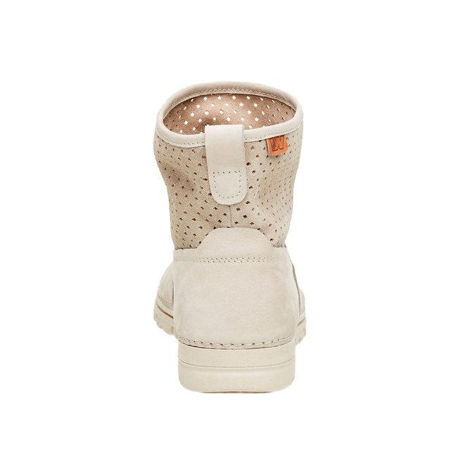 Kožené členkové topánky weinbrenner, biela, 596-1121 - 17