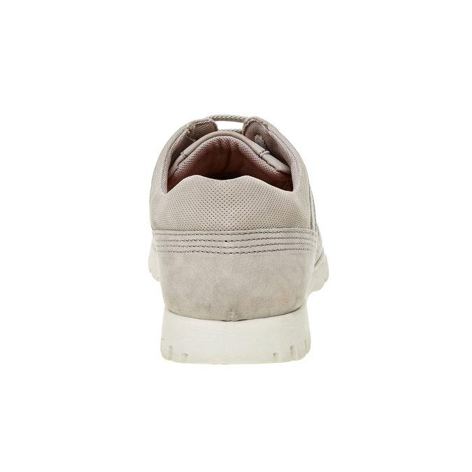 Ležérne kožené tenisky flexible, béžová, 846-2650 - 17