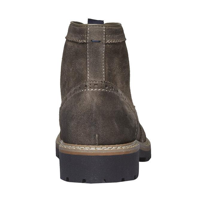Semišová členková obuv bata, hnedá, 893-2372 - 17
