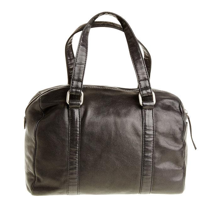 Kožená kabelka so strapcom bata, čierna, 964-6190 - 26