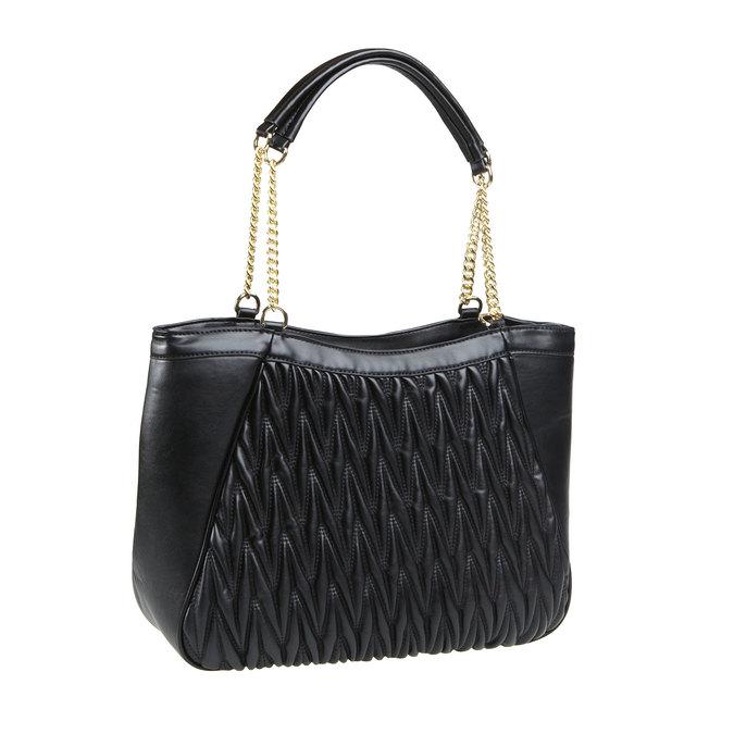 Dámska kabelka v Tote štýle bata, čierna, 961-6319 - 13