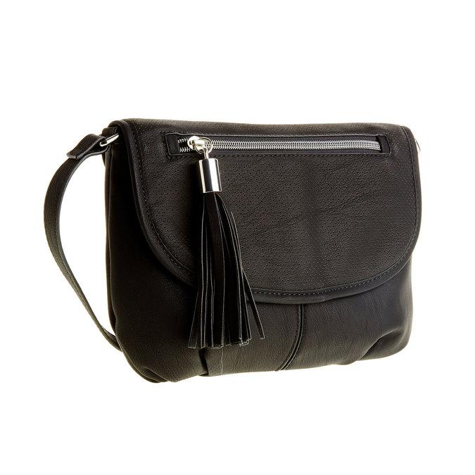 Crossbody kabelka so strapcom bata, čierna, 961-6759 - 13