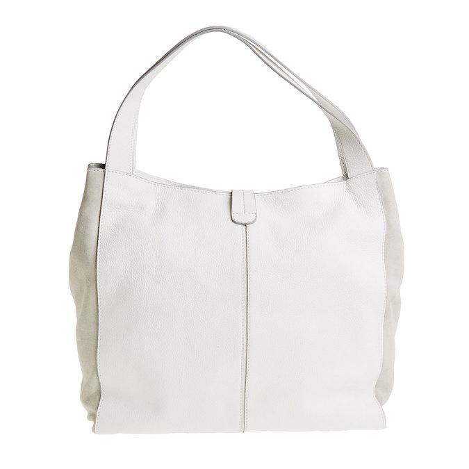 Kožená kabelka so strapcom bata, biela, 964-1179 - 26
