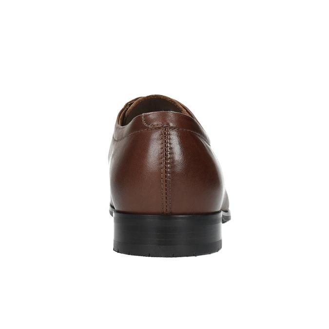 Kožené poltopánky v Derby strihu bata, hnedá, 824-4671 - 17