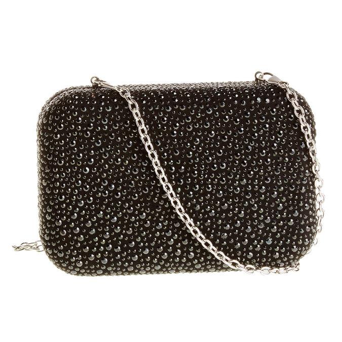 Listová kabelka v štýle Miniaudière bata, čierna, 969-6350 - 26