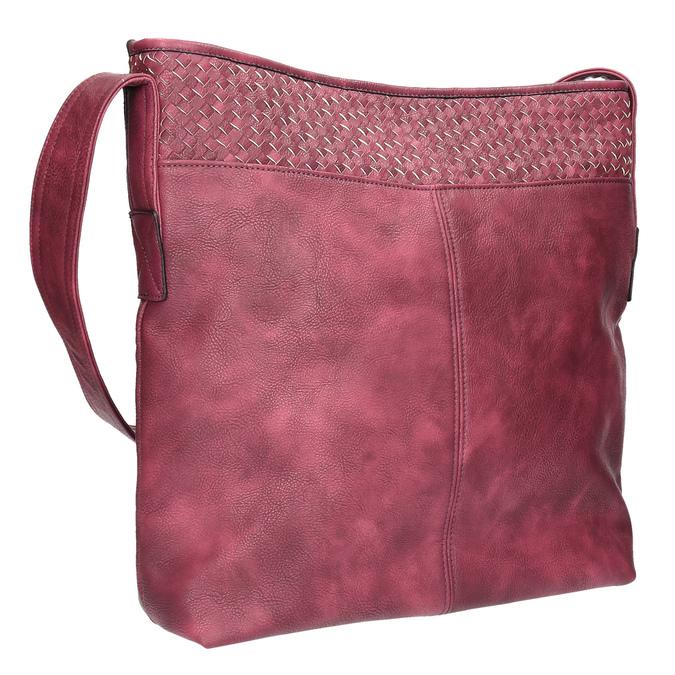 Vínová kabelka s dlhým uchom bata, červená, 961-5600 - 13