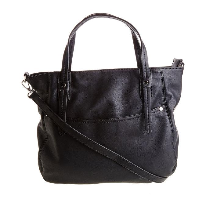 Čierna kabelka s odnímateľným popruhom bata, čierna, 961-6779 - 26