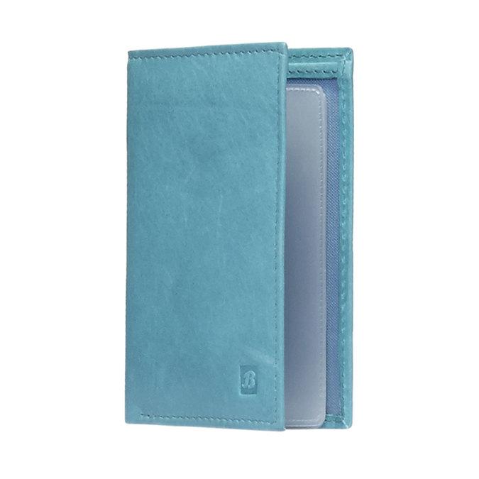 Kožené púzdro na karty bata, modrá, 944-9158 - 13
