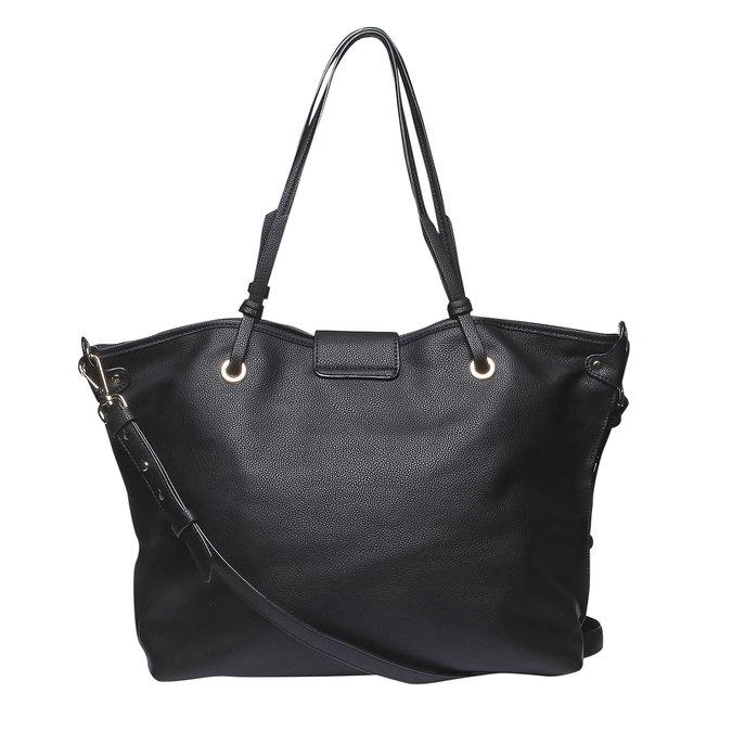 Dámska kabelka v Tote štýle bata, čierna, 961-6365 - 26
