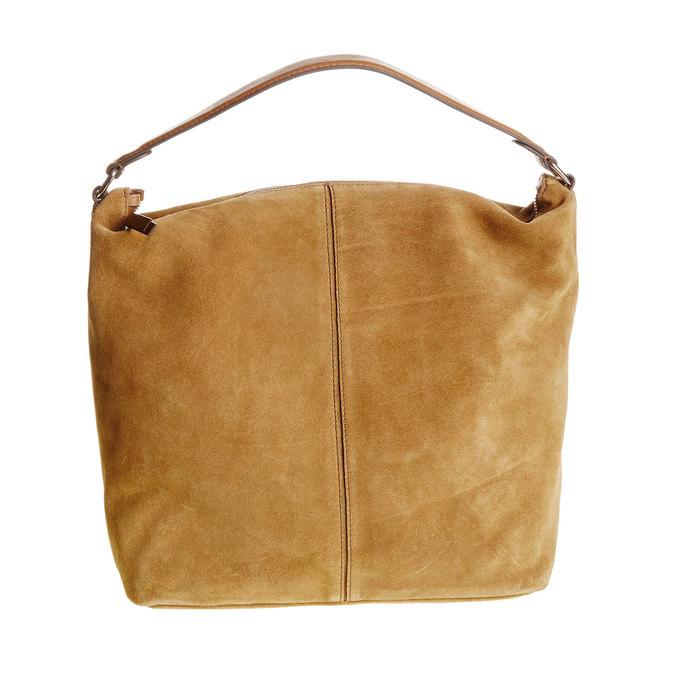 Kožená kabelka v Hobo štýle bata, hnedá, 963-3129 - 26