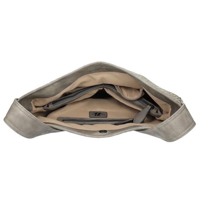 Šedá kabelka s dlhým uchom bata, šedá, 961-2600 - 15