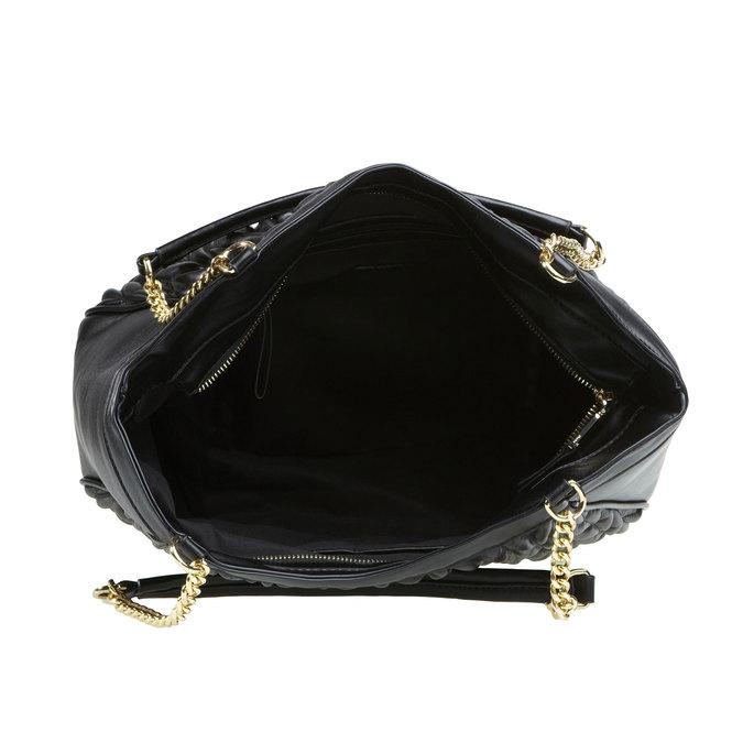Dámska kabelka v Tote štýle bata, čierna, 961-6319 - 15
