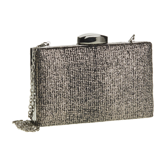 Listová kabelka s retiazkou bata, čierna, 969-6234 - 13