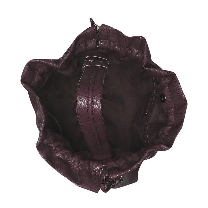 Dámska kabelka v Bucket Bag štýle bata, fialová, 961-5369 - 15