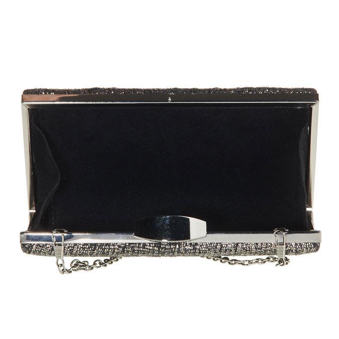 Listová kabelka s retiazkou bata, čierna, 969-6234 - 15