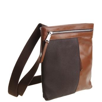 Pánska kožená Crossbody taška bata, hnedá, 964-4184 - 13