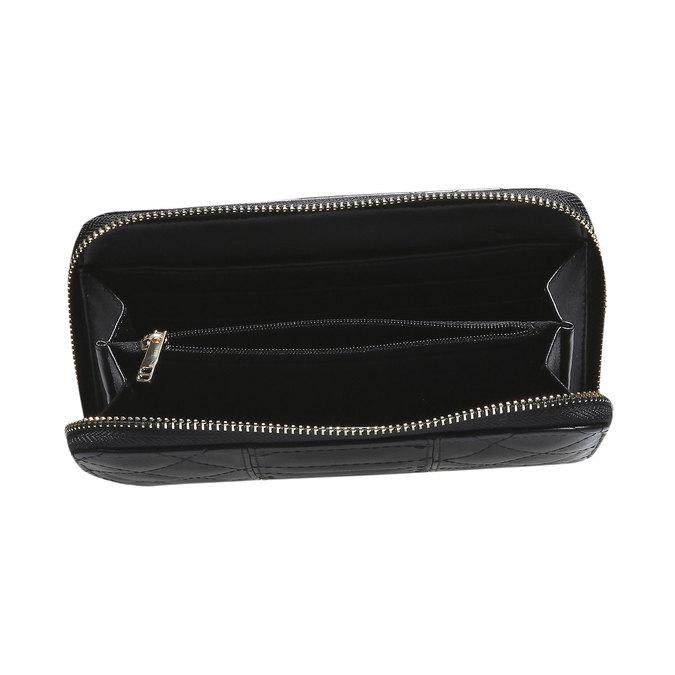 Dámska prešívaná peňaženka bata, čierna, 941-6128 - 17