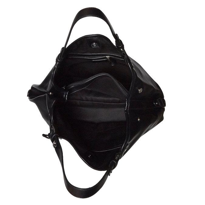 Kabelka v Hobo bag štýle bata, čierna, 961-6185 - 15
