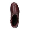 Dámska kožená zimná obuv bata, červená, 596-5347 - 19