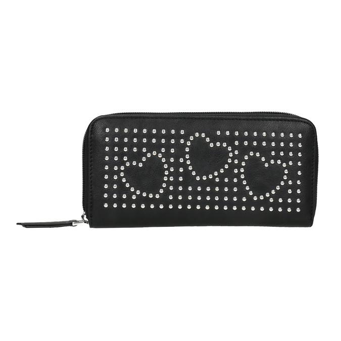Dámska peňaženka s kovovou aplikáciou bata, čierna, 941-6134 - 19