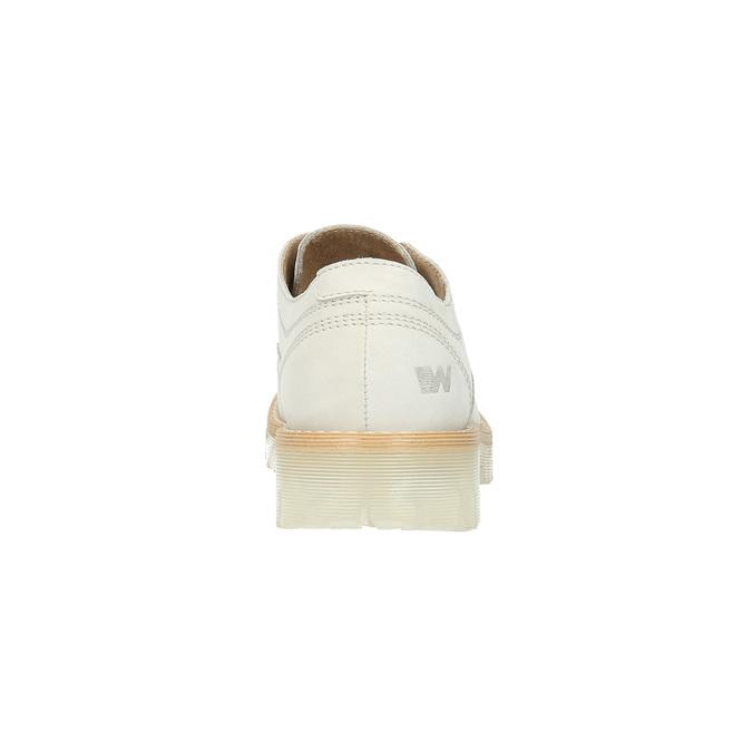 Kožené poltopánky na priehladnej podrážke weinbrenner, biela, 526-1608 - 17