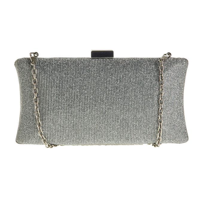 Listová kabelka v štýle Miniaudière bata, šedá, 969-2237 - 26
