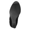 Dámska členková obuv na klínovom podpätku bata, čierna, 799-6631 - 26