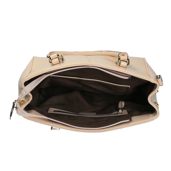 Dámska kabelka s pevnými uškami bata, béžová, 961-1619 - 15