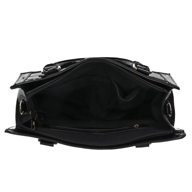 Čierna kabelka so zlatými detailami bata, čierna, 961-6610 - 15