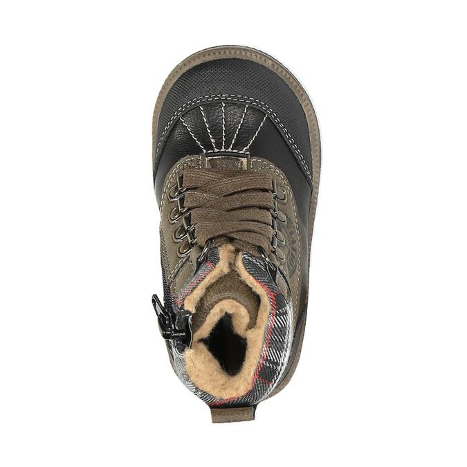 Detská členková obuv bubblegummer, hnedá, 191-6613 - 19