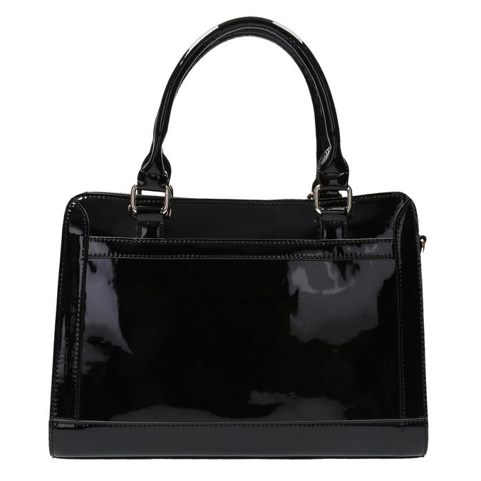 Čierna kabelka so zlatými detailami bata, čierna, 961-6610 - 19