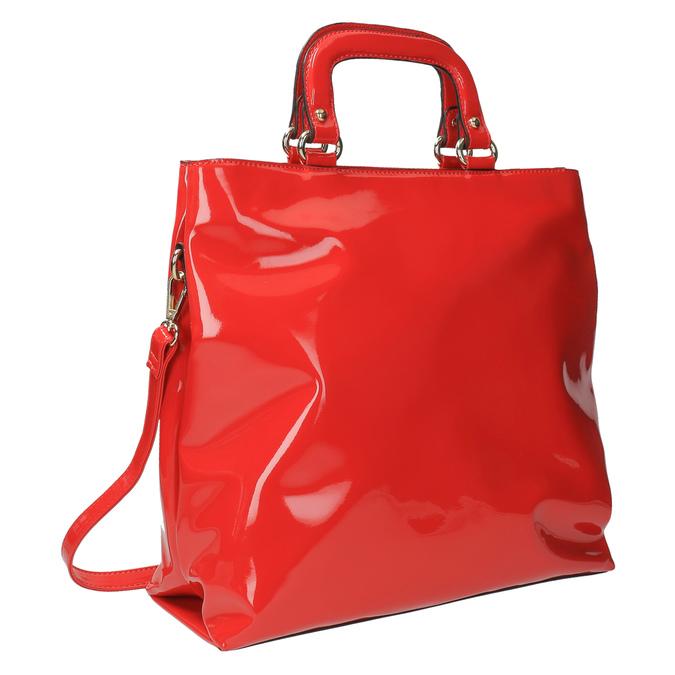 Červená dámska kabelka do ruky bata, červená, 961-5606 - 13