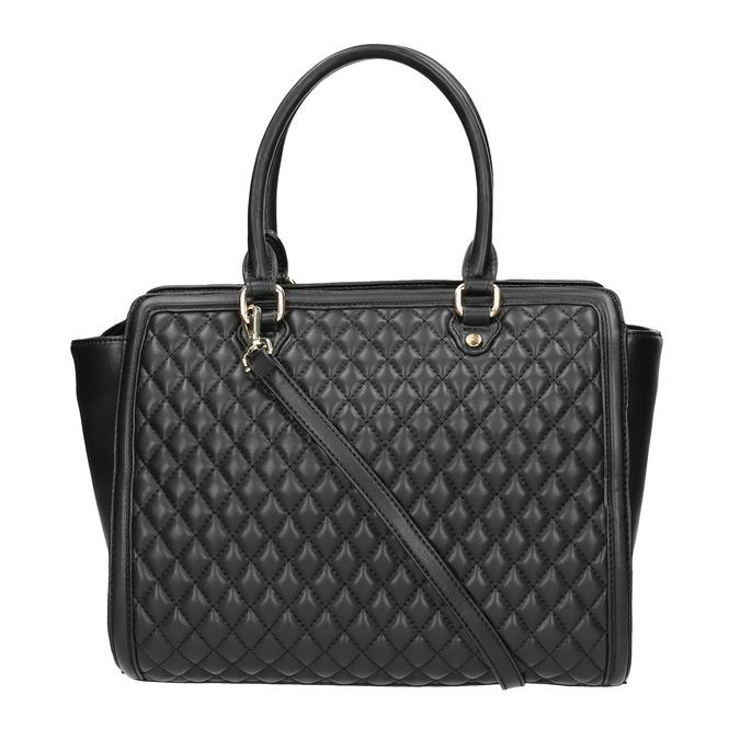 Shopper kabelka s prešíváním a strapcom bata, čierna, 961-6287 - 19