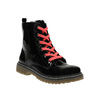 Dievčenská členková obuv s ružovým šnurovaním mini-b, čierna, 321-6600 - 13