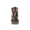 Dievčenská členková obuv s kvetinovým vzorom mini-b, čierna, 321-9600 - 17