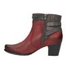 Dámska členková obuv so zateplením bata, červená, 696-5617 - 26