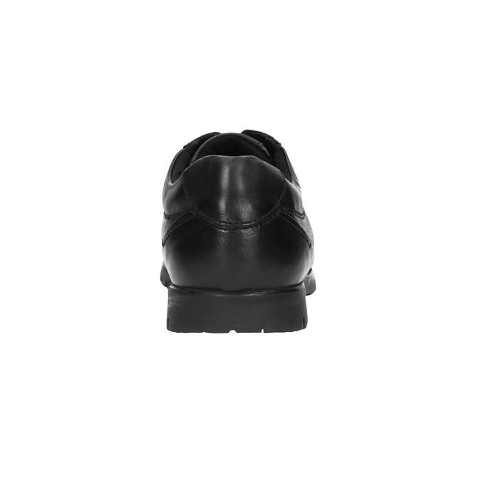 Ležérne kožené poltopánky čierne bata, čierna, 826-6652 - 17