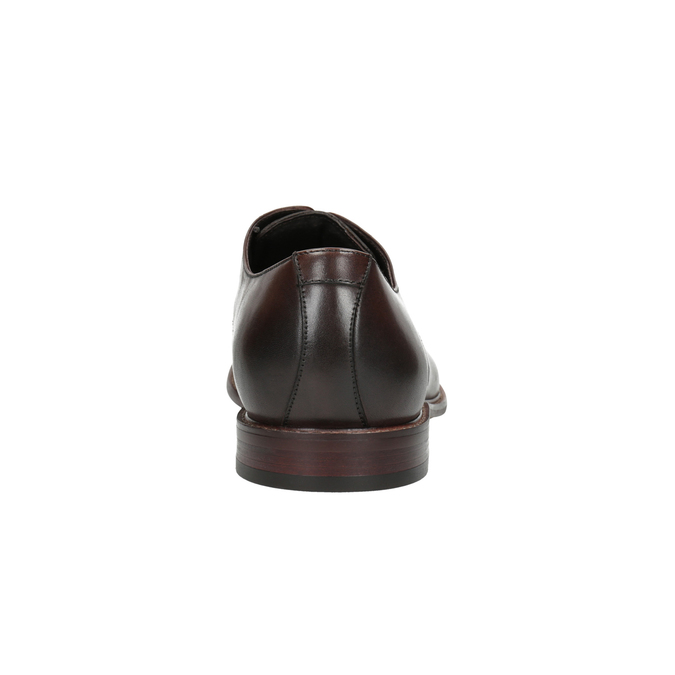 Kožené hnedé poltopánky bata, hnedá, 824-4684 - 17