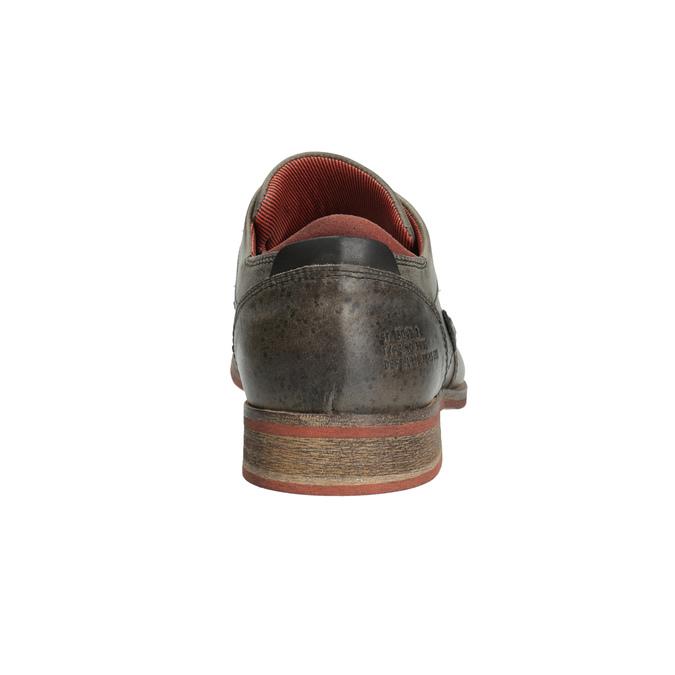Kožené poltopánky v ležérnom štýle bata, šedá, 824-2620 - 17