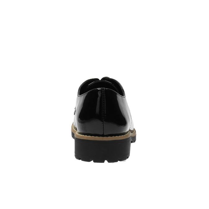 Lakované poltopánky na výraznej podrážke bata, čierna, 521-6600 - 17
