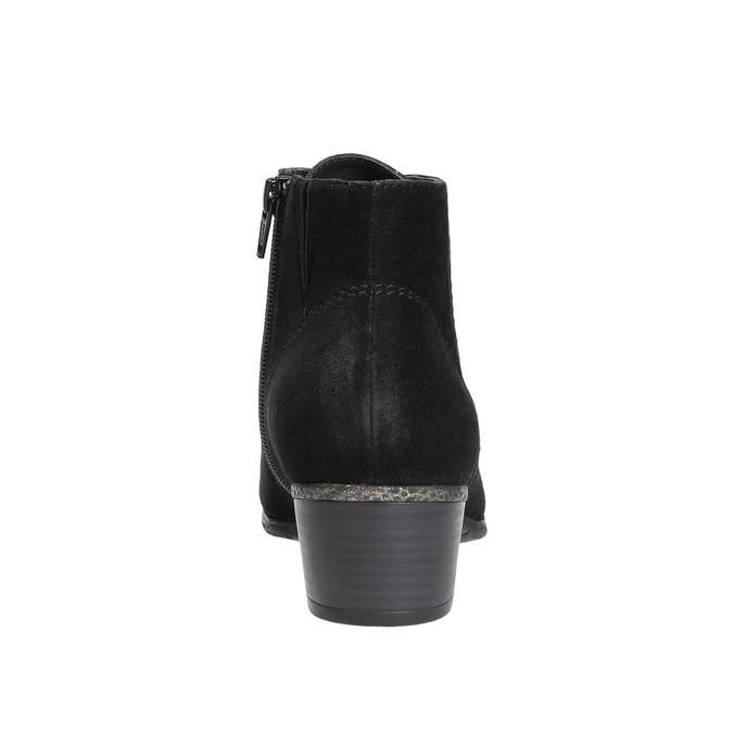 Dámska členková obuv bata, čierna, 693-6601 - 17