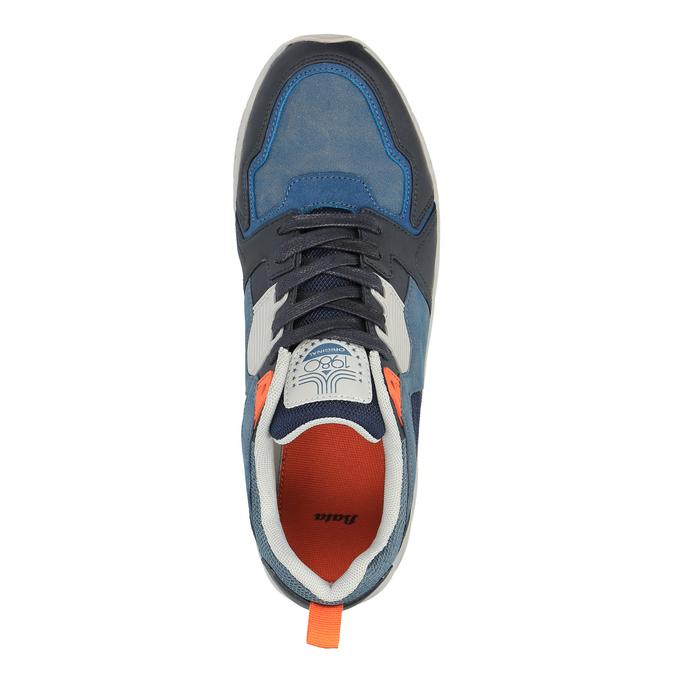 Pánske tenisky na výraznej podrážke bata, modrá, 841-9601 - 19