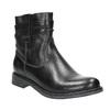 Dámska kožená členková obuv bata, čierna, 594-6611 - 13