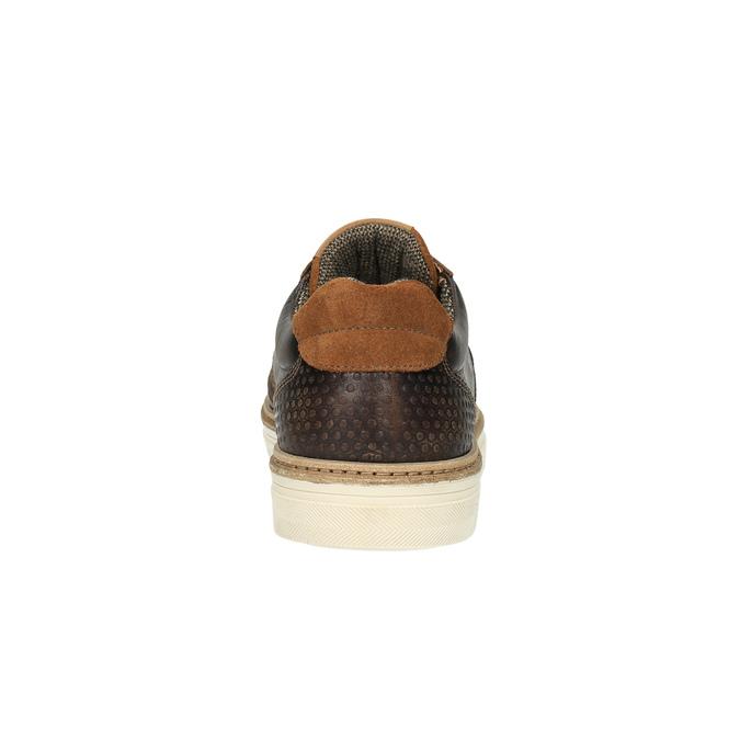 Pánske kožené tenisky bata, hnedá, 846-4605 - 17