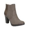 Členková obuv na podpätku bata, šedá, 791-2602 - 13