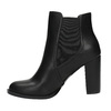 Členková obuv na podpätku s prackou bata, čierna, 791-6610 - 26