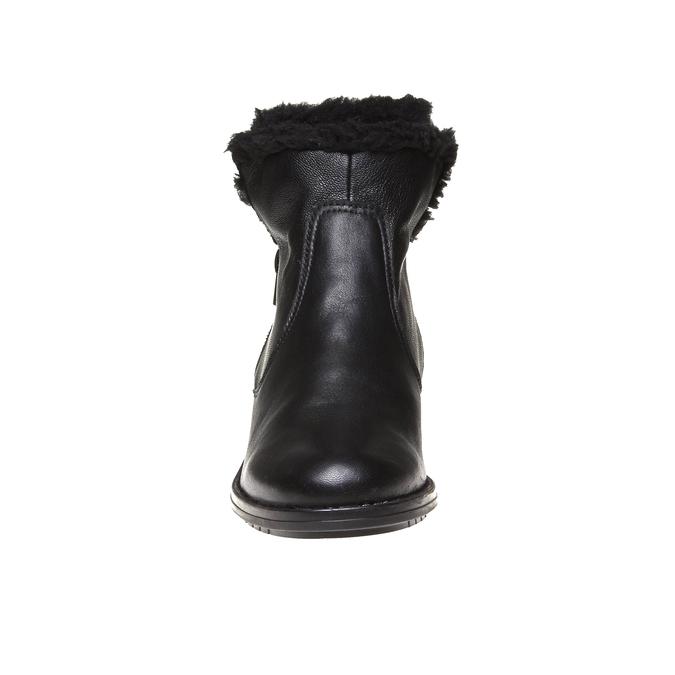 Genie - členková obuv s kožušinkou bata, čierna, 594-6506 - 16
