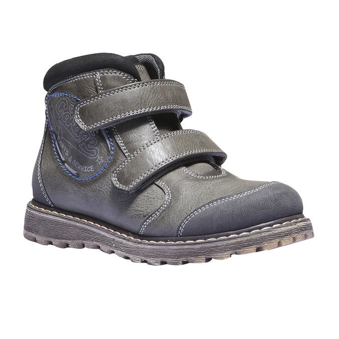 Detská členková obuv na suchý zips mini-b, šedá, 311-2101 - 13