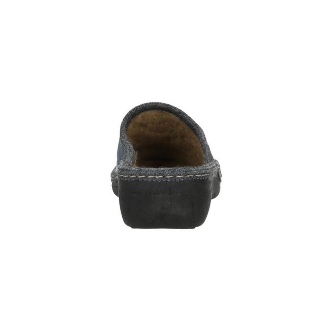 Domáce papuče s výšivkou bata, šedá, 579-2280 - 17